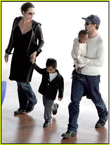 brad angelina airport22365771