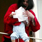 michael jackson baby dangle