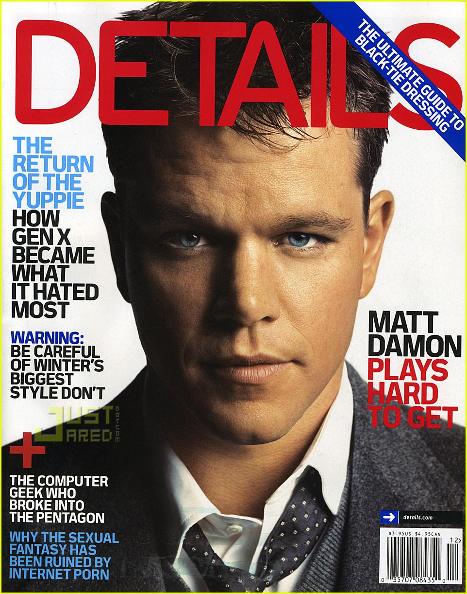Full Sized Photo Of Matt Damon Details Magazine 01