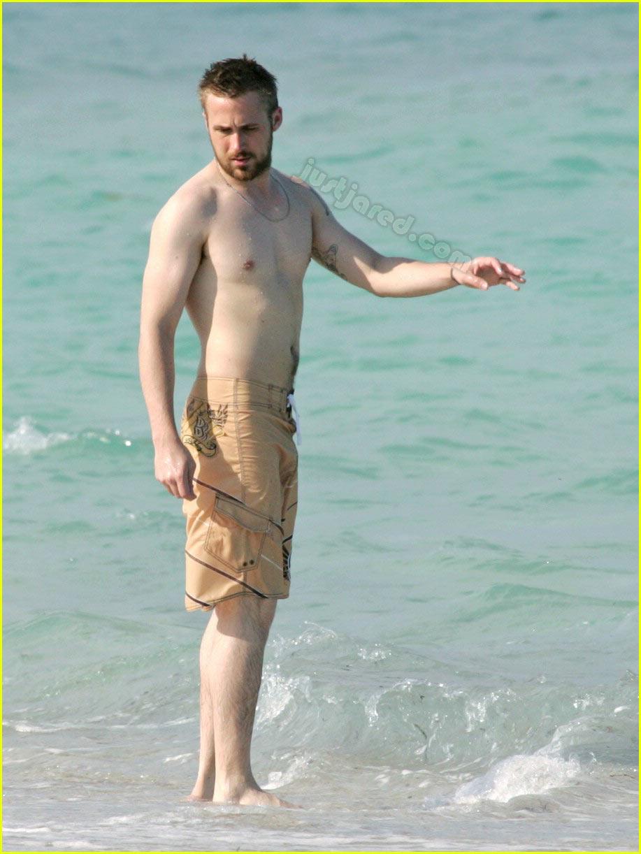 Ryan gosling shirtless notebook