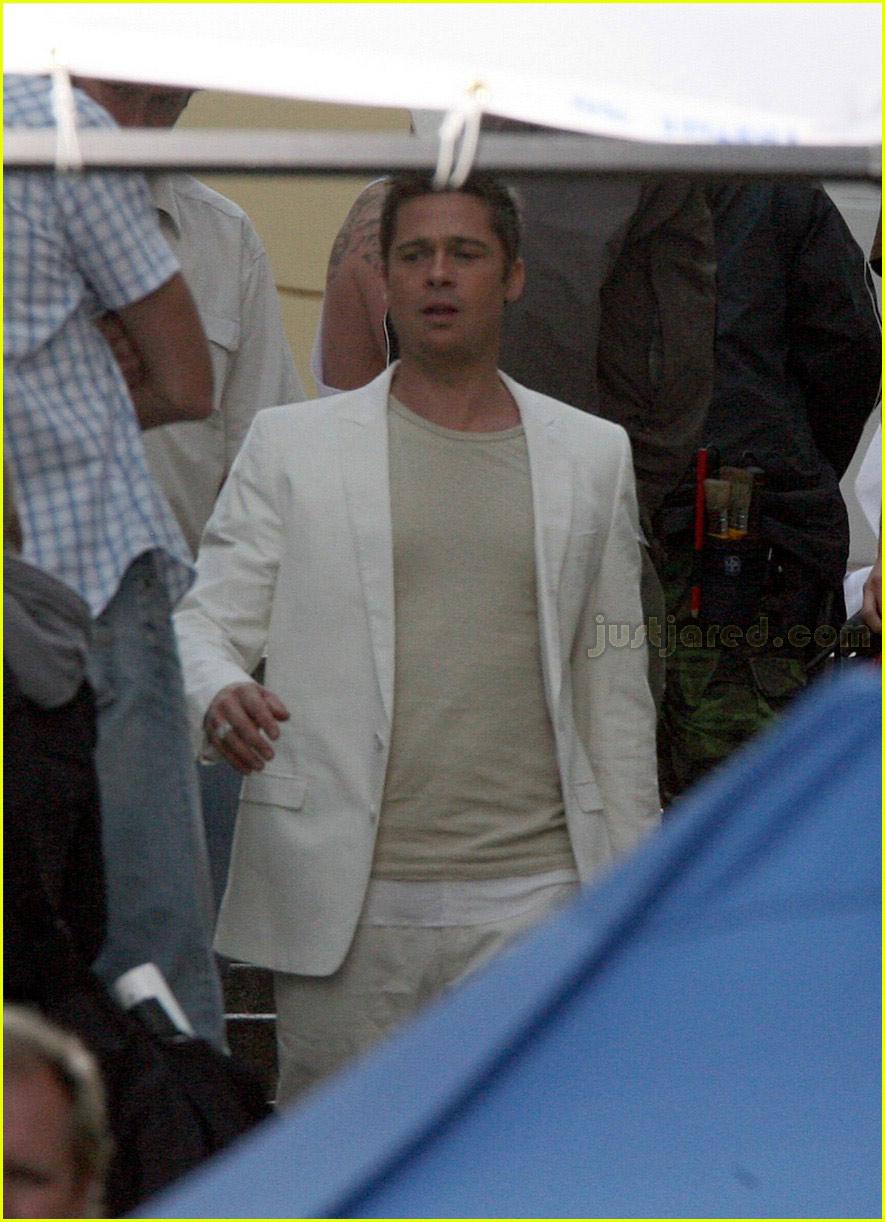 Full Sized Photo of brad pitt softbank white suit 01 ...