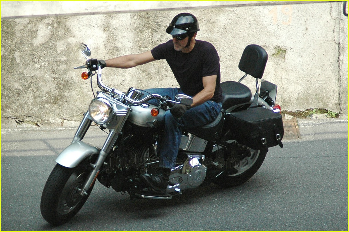 George clooney s motorcycle madness