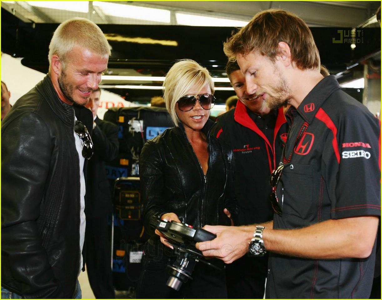 david and victoria beckham at the 2007 british grand prix at long