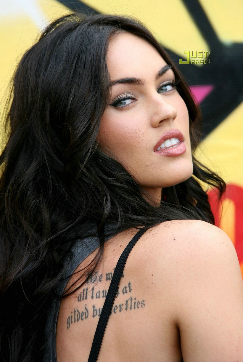Actress Megan Fox arrives at the 2007 Teen Choice Awards which is televised ...