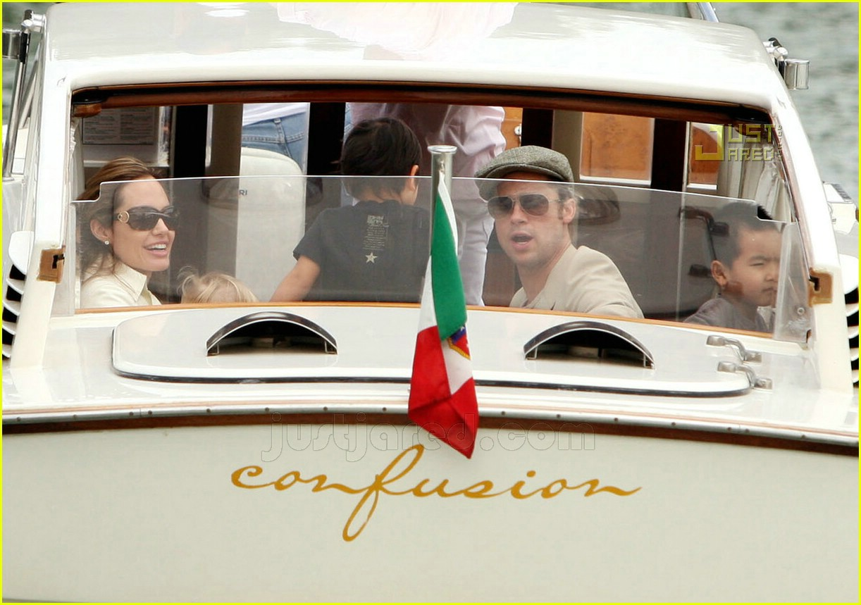 brad angelina water taxi ride 40