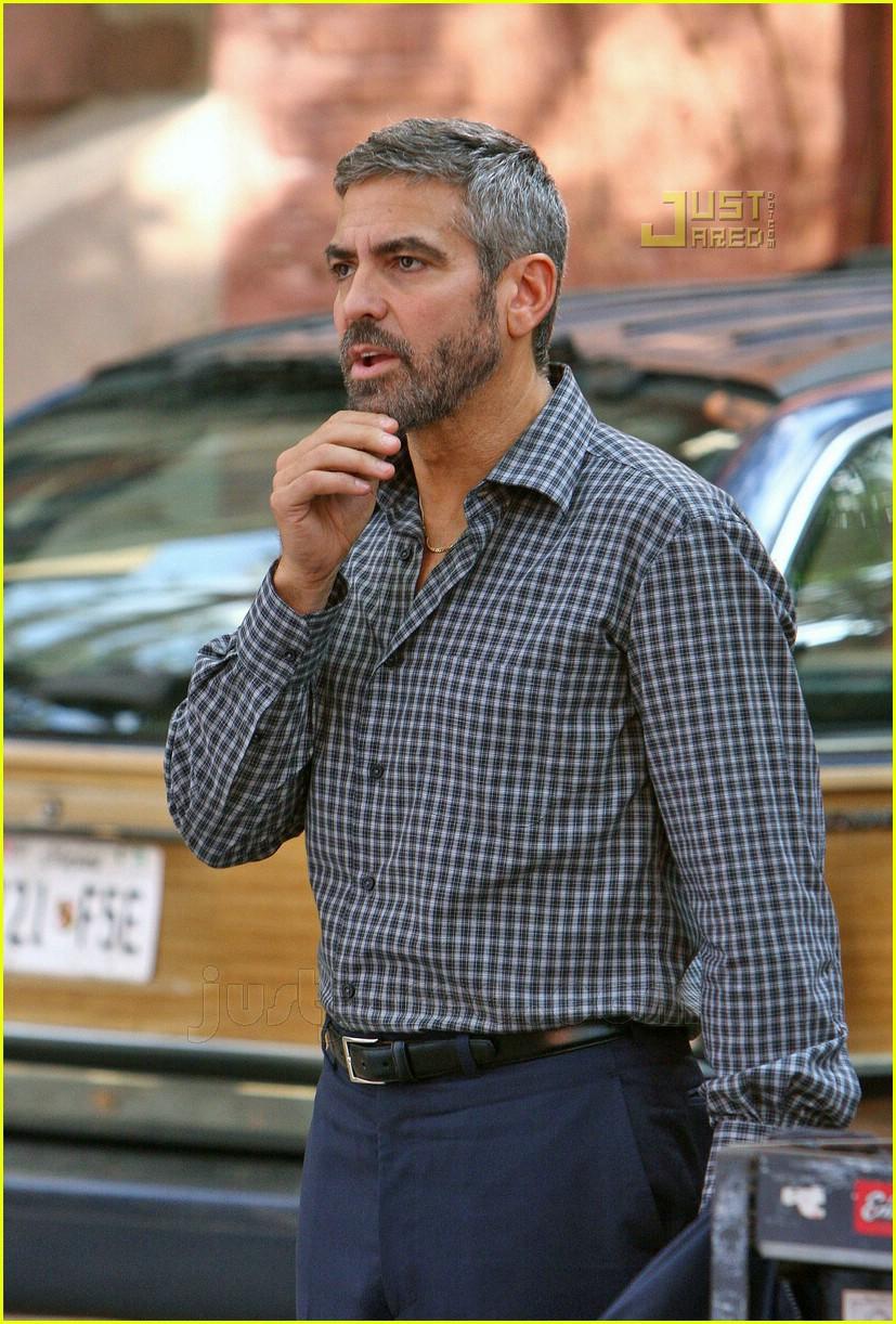 George Clooney   Short Hairstyle 2013  Burn