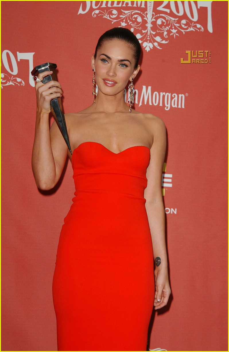 the gallery for gt megan fox red dress spike