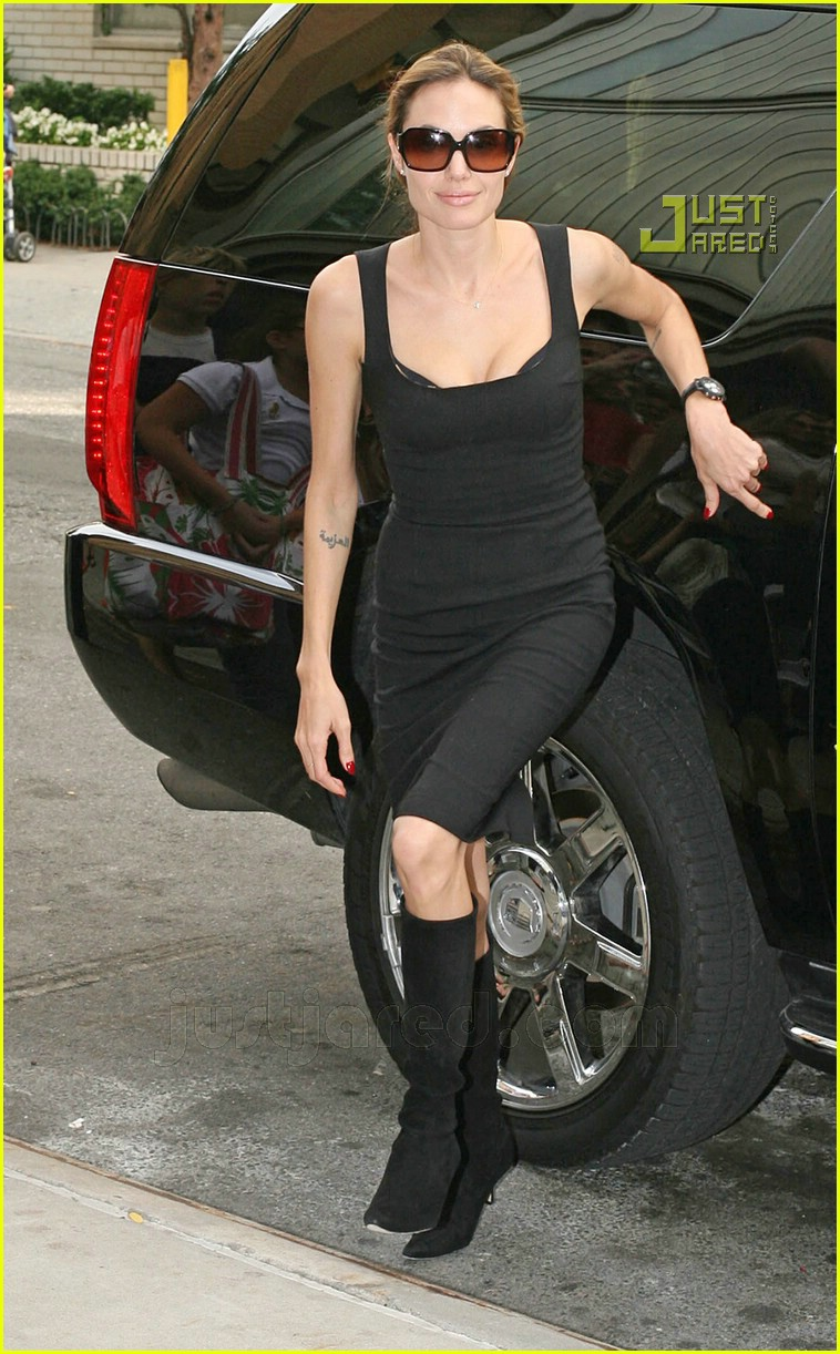 05 angelina jolie pointy black boots