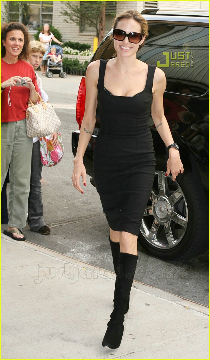 09 angelina jolie pointy black boots