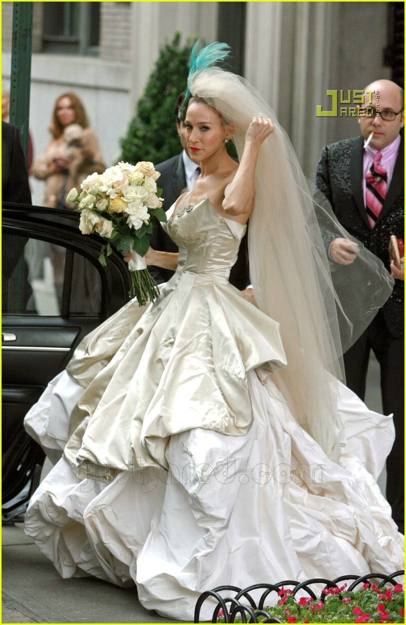 sarah jessica parker wedding dress 25627061