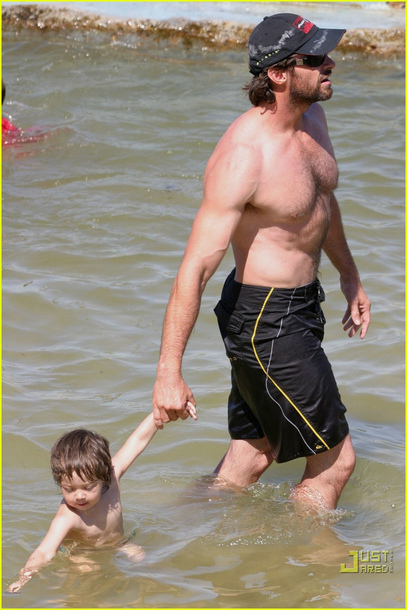 hugh jackman shirtless stallion 01