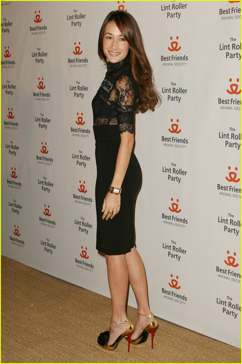 maggie q lint roller party 01724571