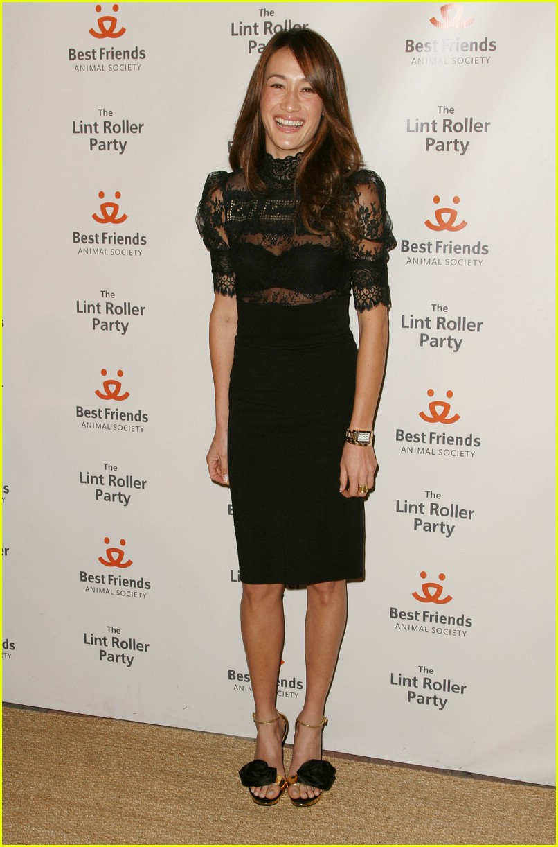 maggie q lint roller party 07724631