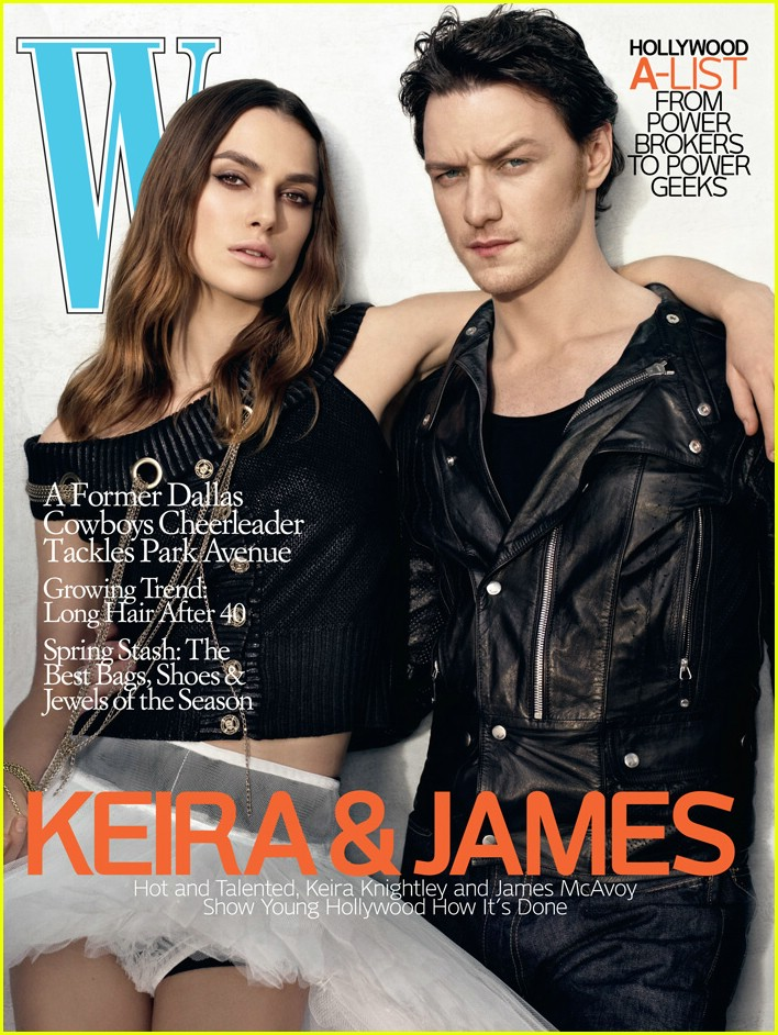 keira knightley james mcavoy w magazine 0