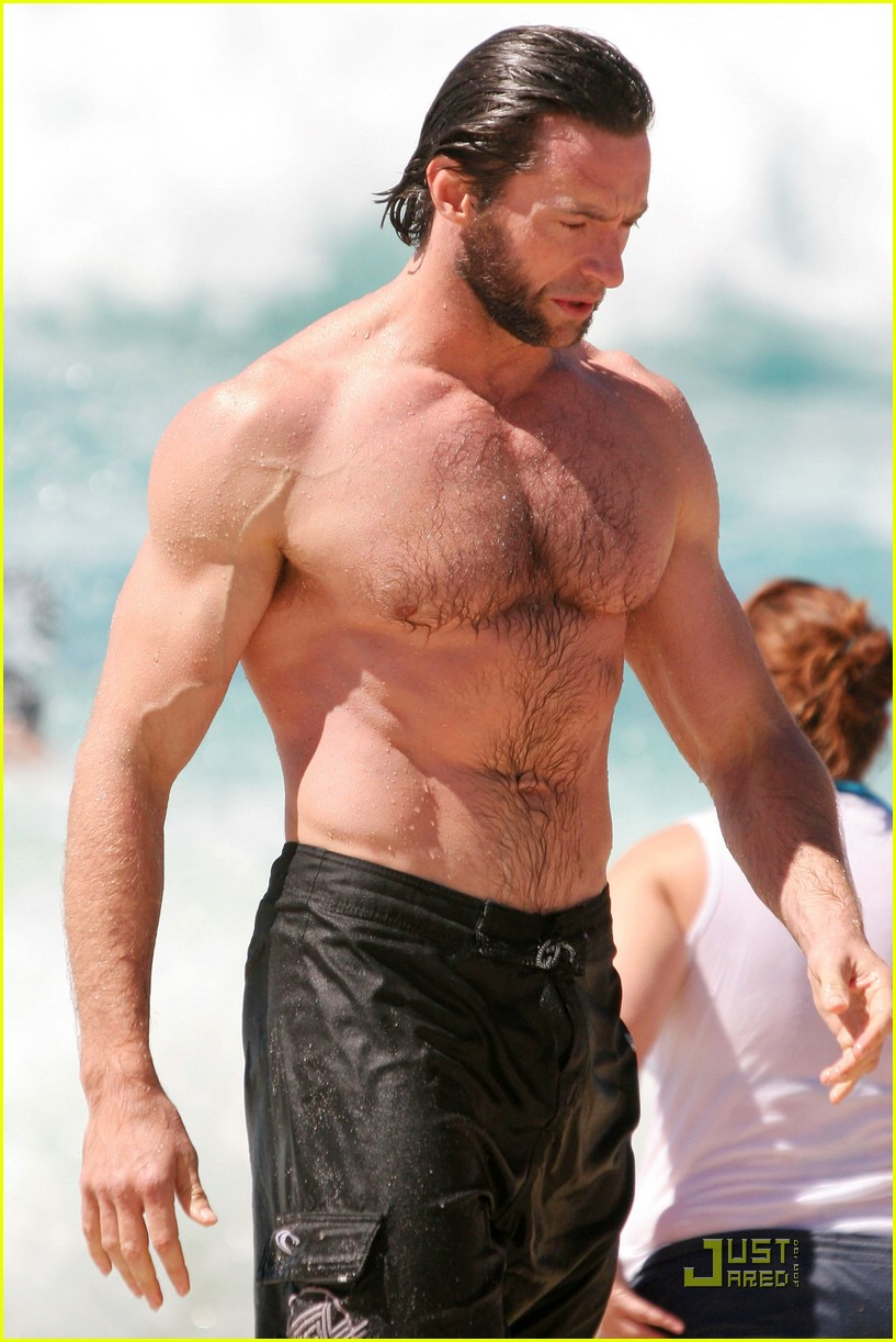 hugh jackman washboard abs 01950811