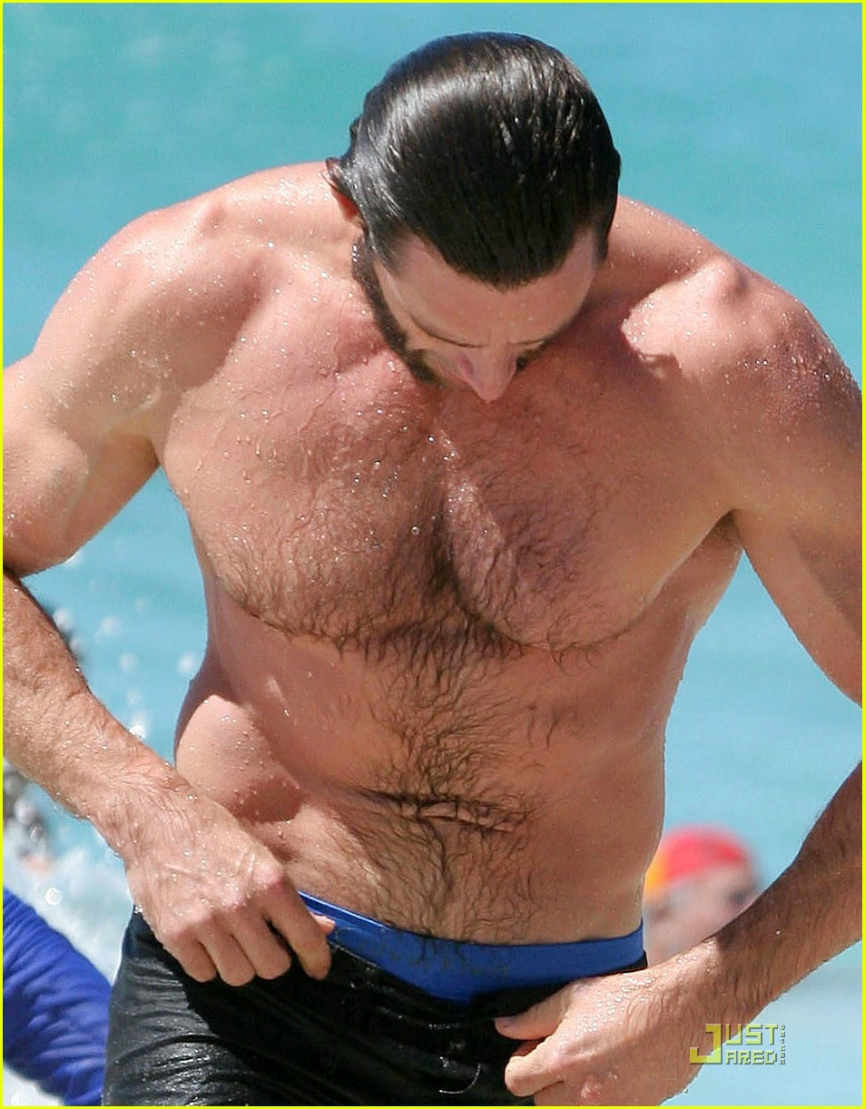 hugh jackman washboard abs 14