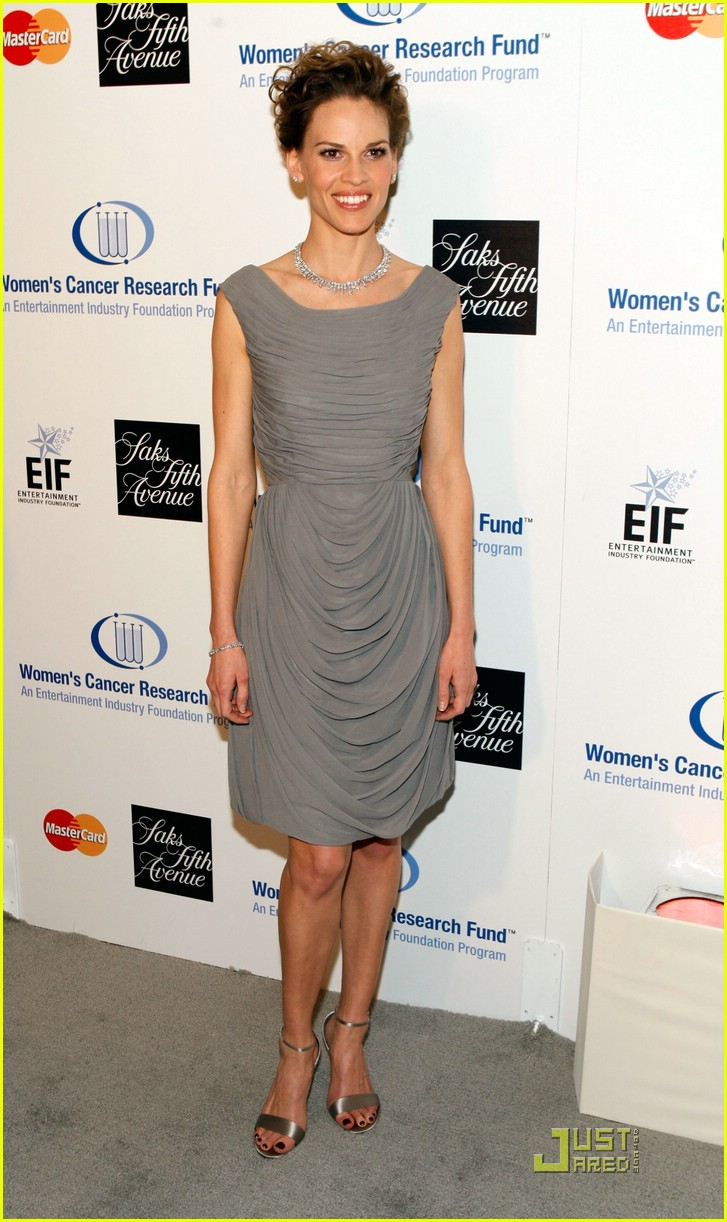 hilary swank cancer charity work 01948431