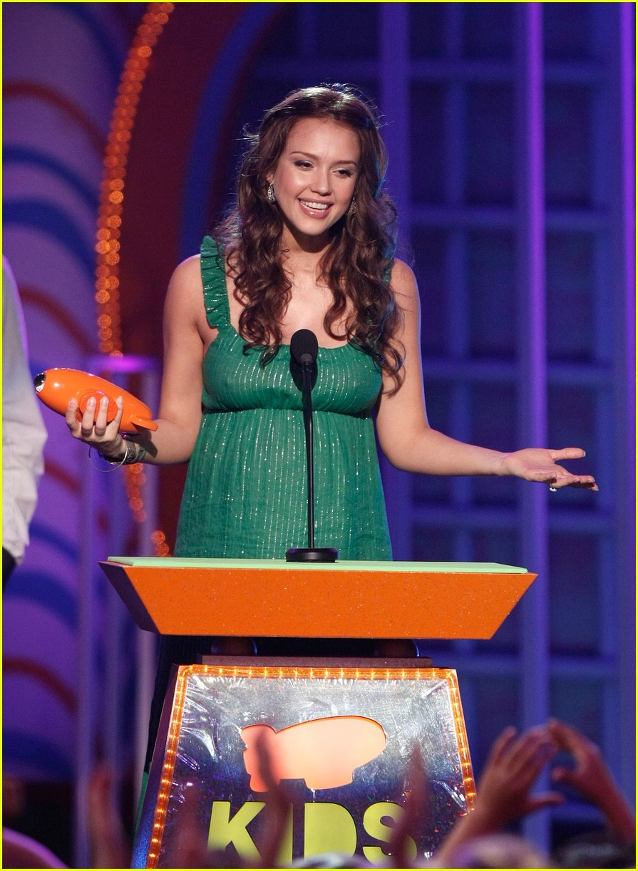 jessica alba 2008 kids choice awards 01