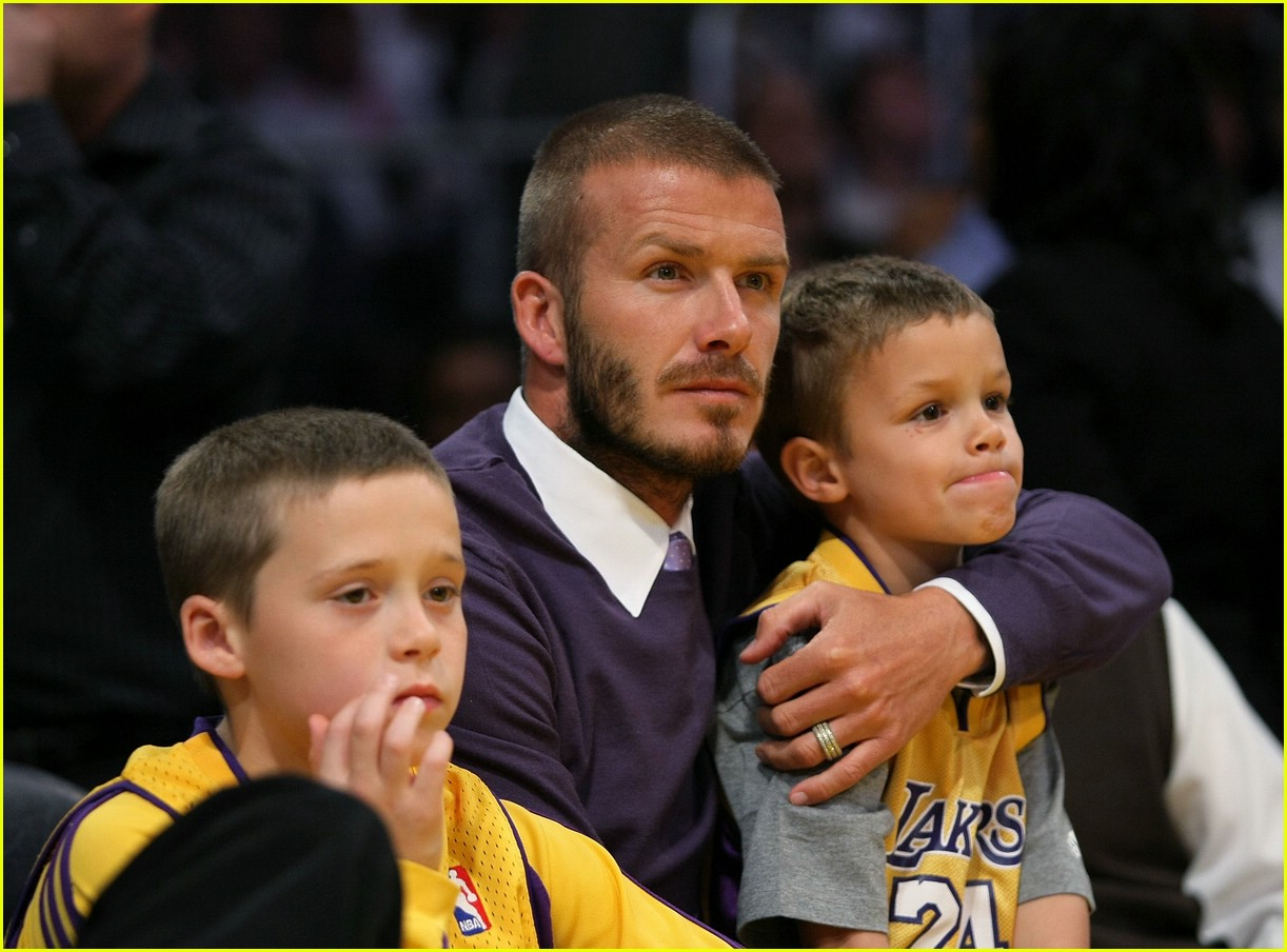 david beckham lakers 08