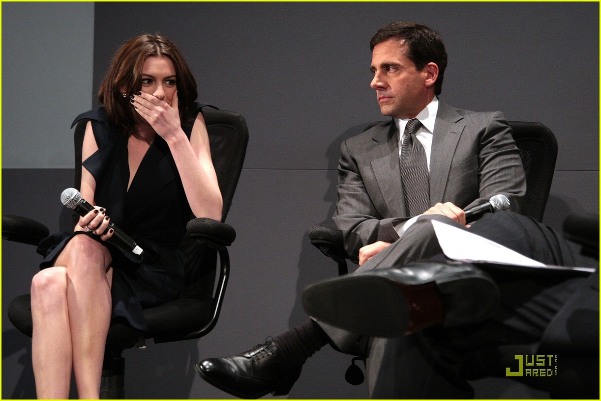 anne hathaway steve carell stephen colbert apple 351212411