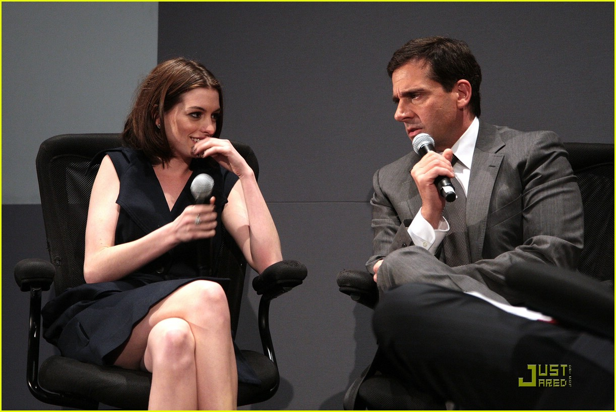 anne hathaway steve carell stephen colbert apple 371212431