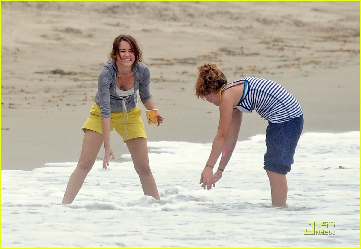 Miley Cyrus & Lucas Till Hit The Beach: Photo 1265281 ...