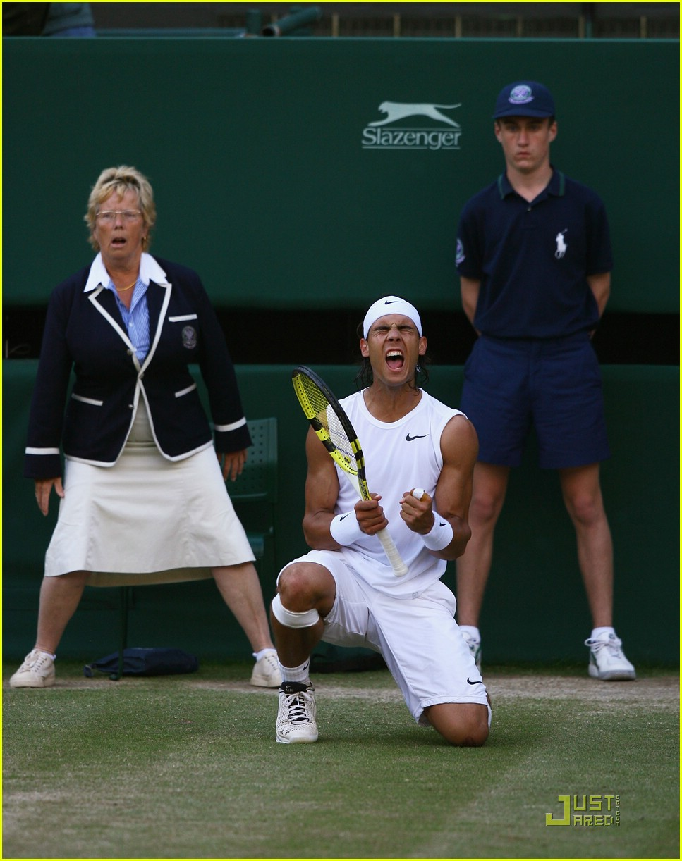 Rafael Nadal Wins Wimbledon 2008 Photo 1253131 Rafael Nadal Pictures Just Jared