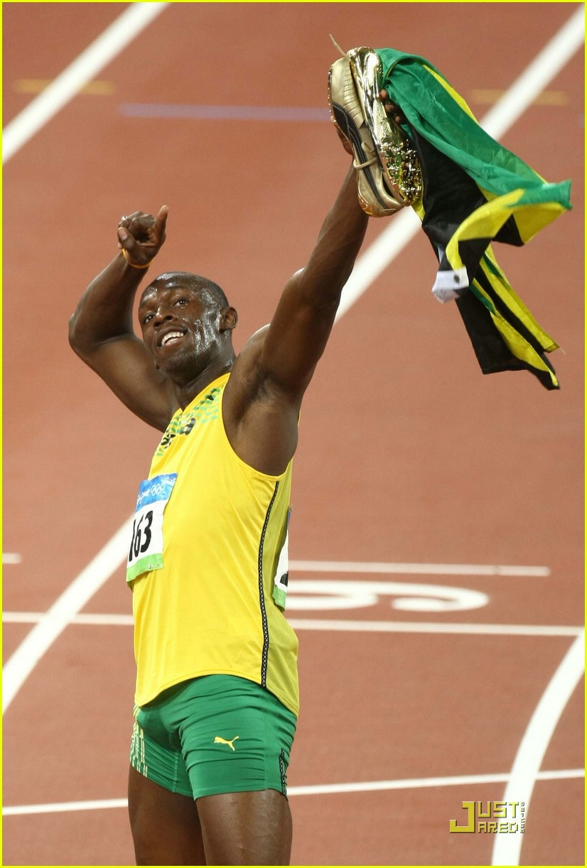 usain bolt beijing olympics 100m 200m 08