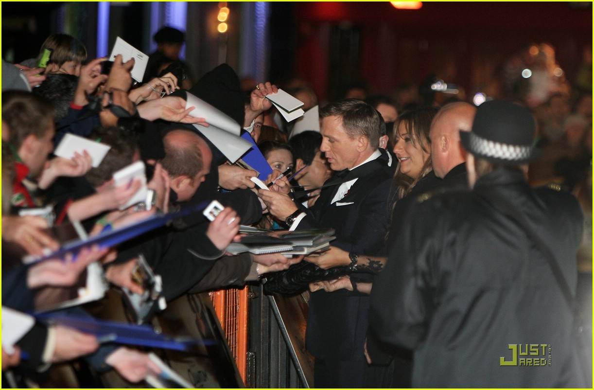 daniel craig quantum of solace world premiere 12