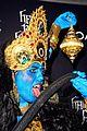 heidi klum blue indian goddess halloween 05