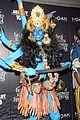 heidi klum blue indian goddess halloween 14