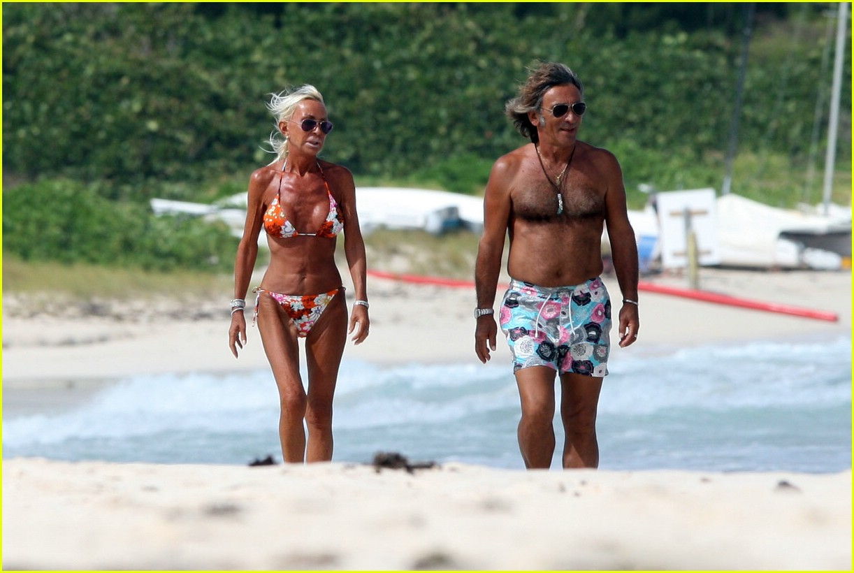 Donatella versace bikini photo think, that