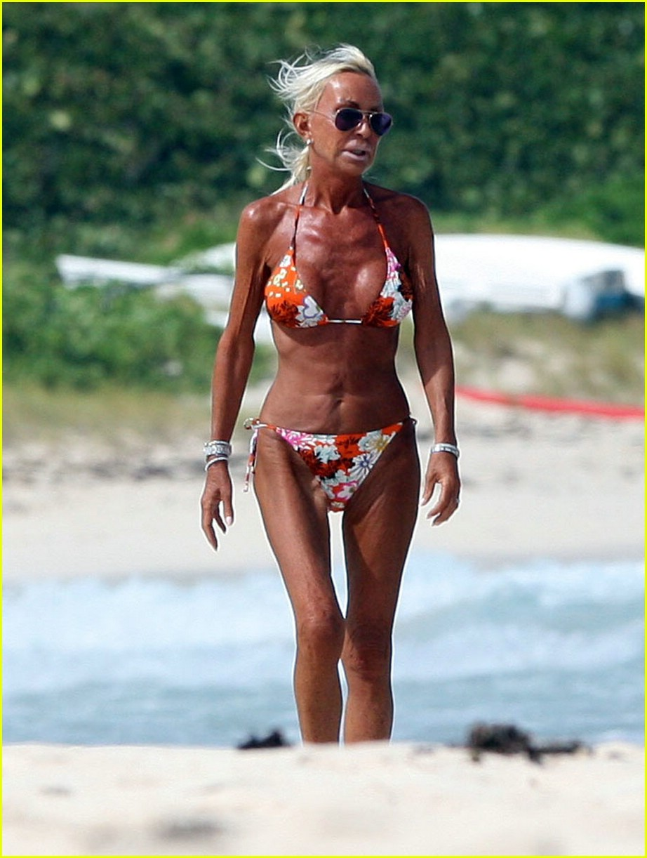 Posted in Donatella Versace is a Bikini Babe