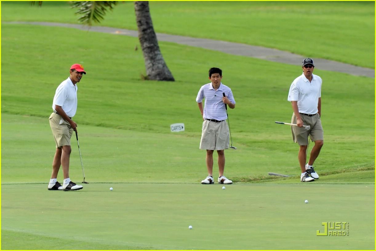 obama golf 08