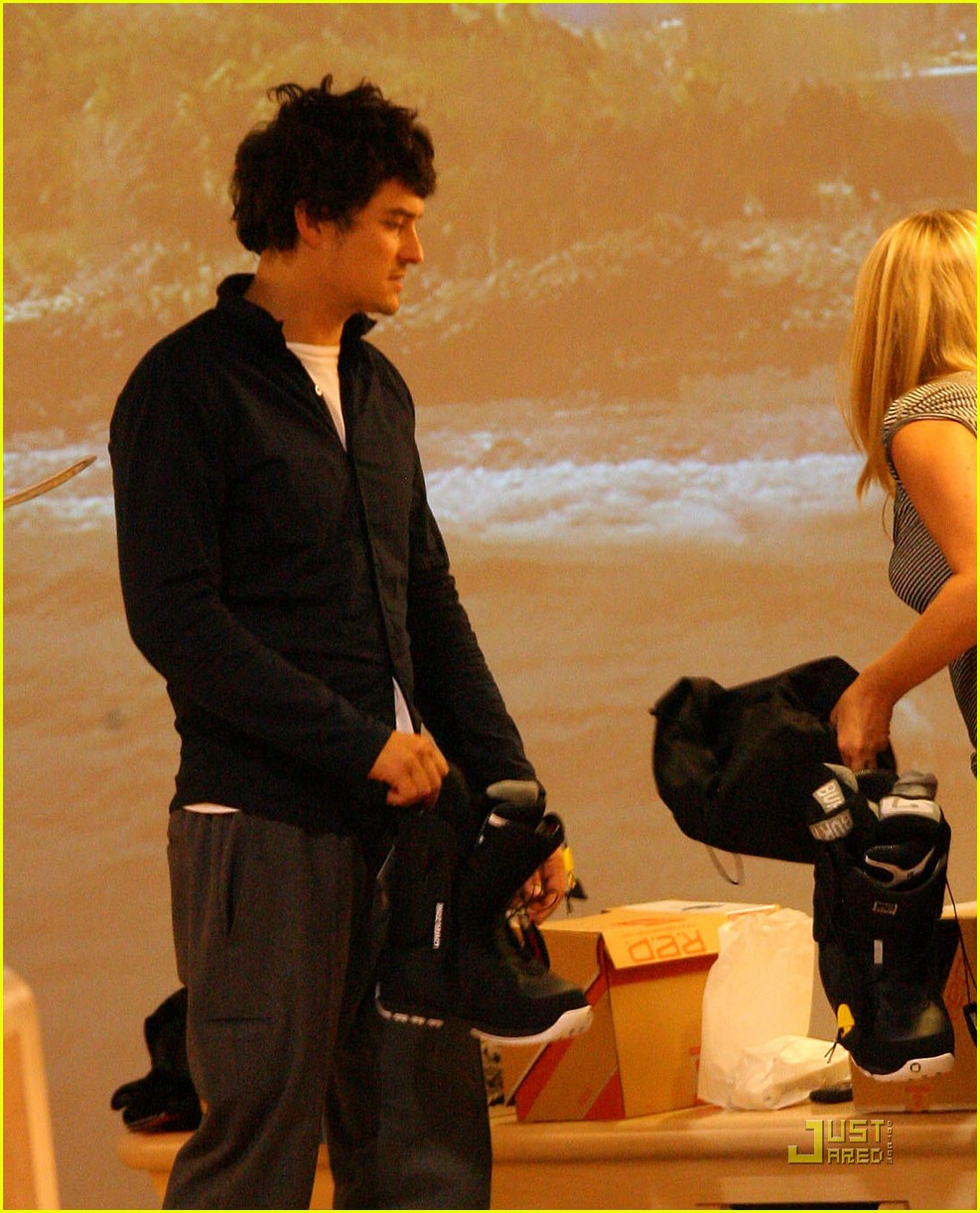 orlando bloom miranda kerr snowboarding shopping 011614811