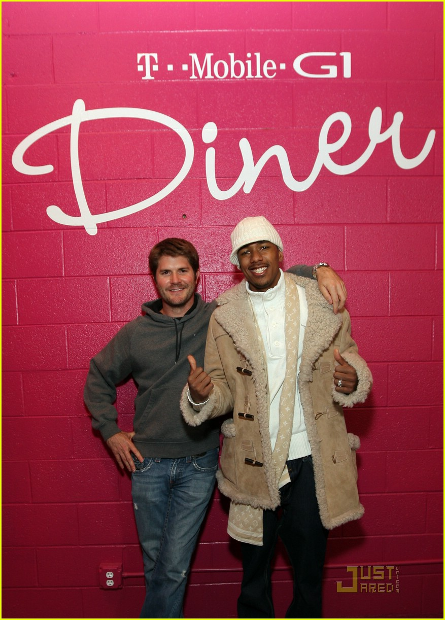 Nick Cannon and Jonathan Liebesman at the T Mobile G1 Diner