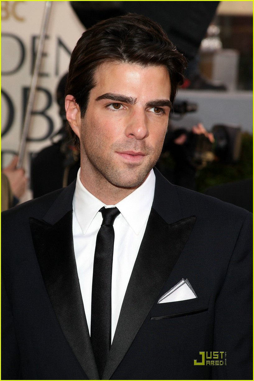 chris pine zachary quinto golden globes 2009 08
