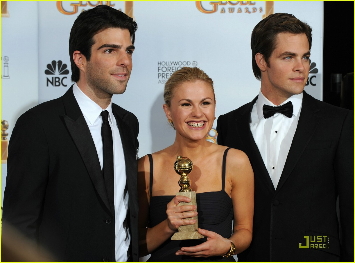chris pine zachary quinto golden globes 2009 13