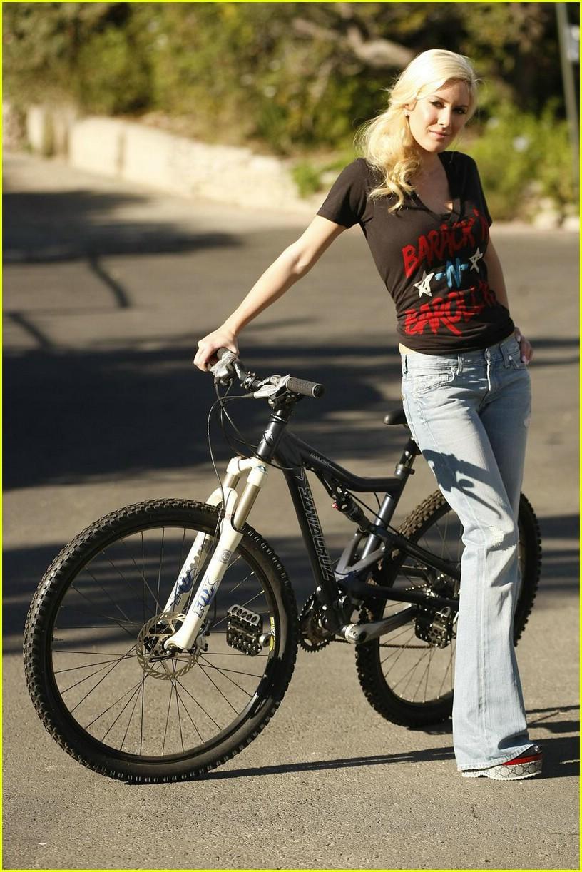 heidi montag spencer pratt biking barack 051661131