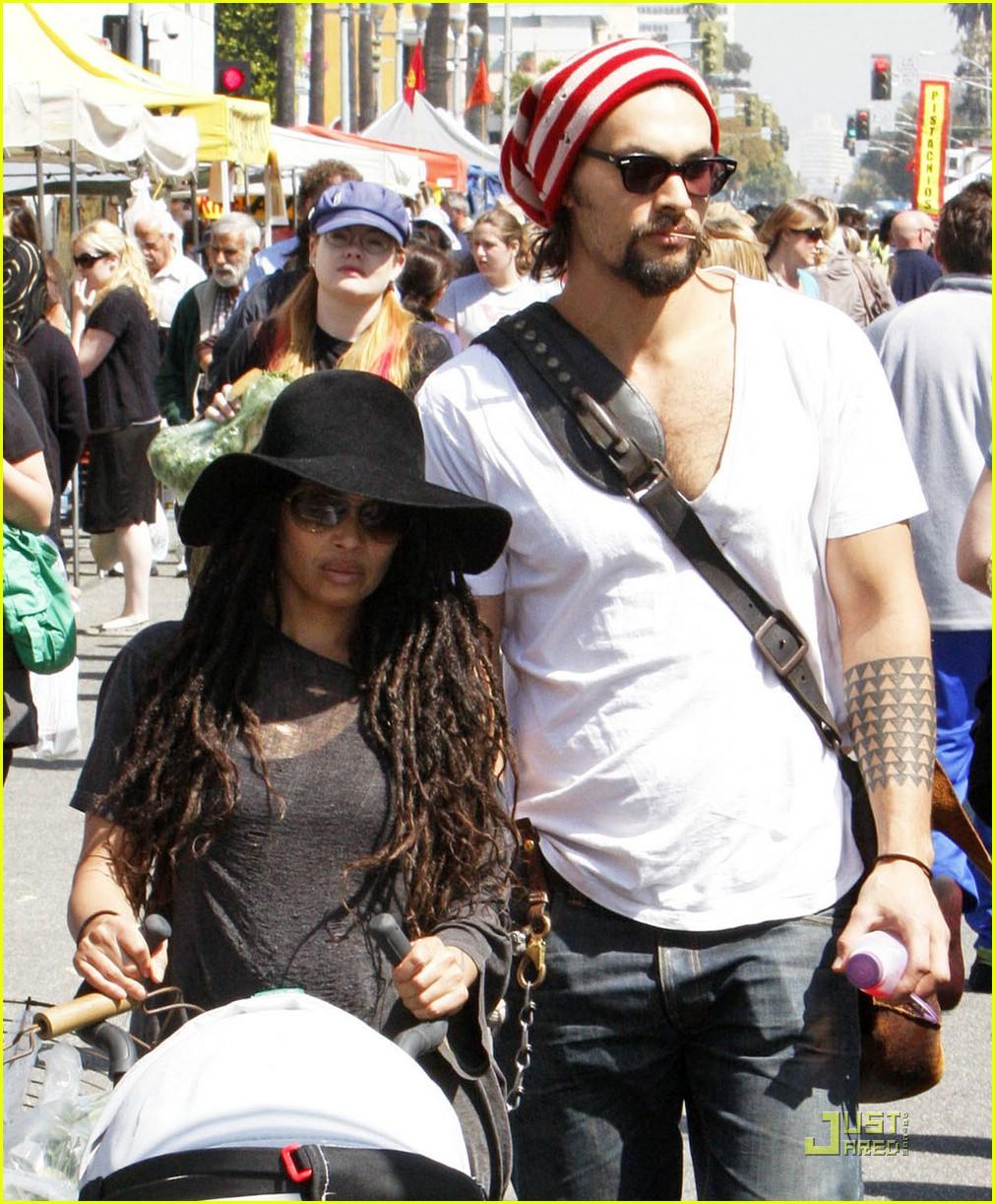Jason Momoa & Lisa Bonet: Farmers Market Fresh: Photo