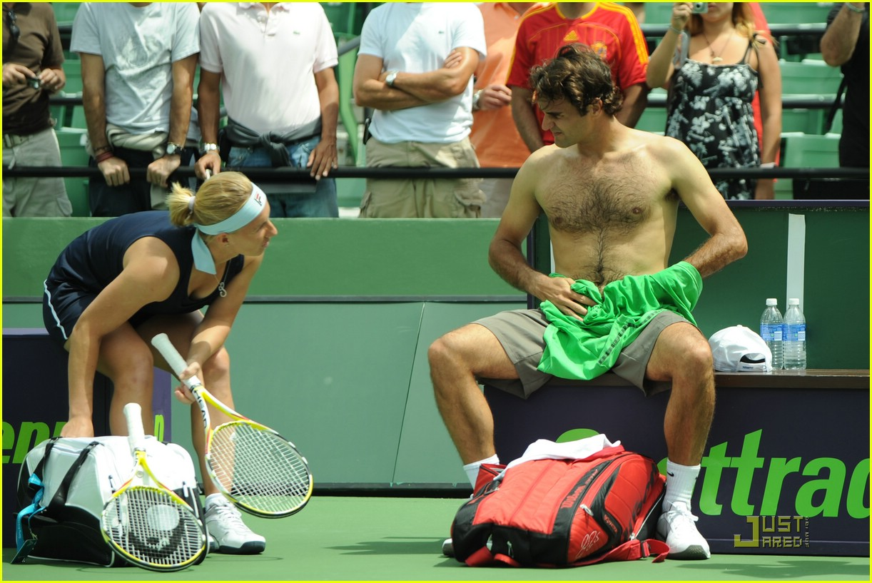 roger federer shirtless 031811191