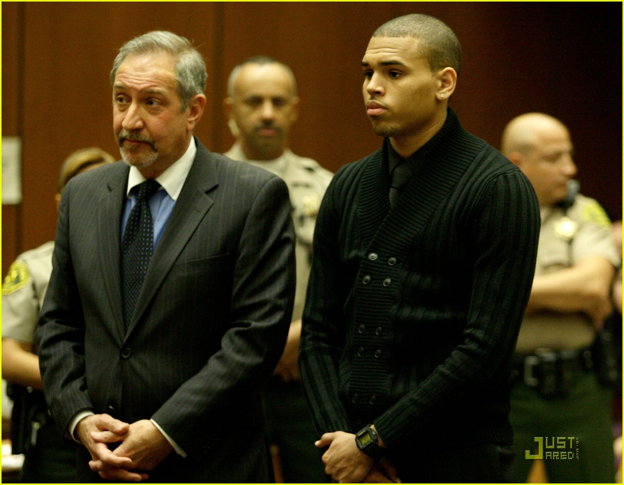 chris brown pleads not guilty 121837961