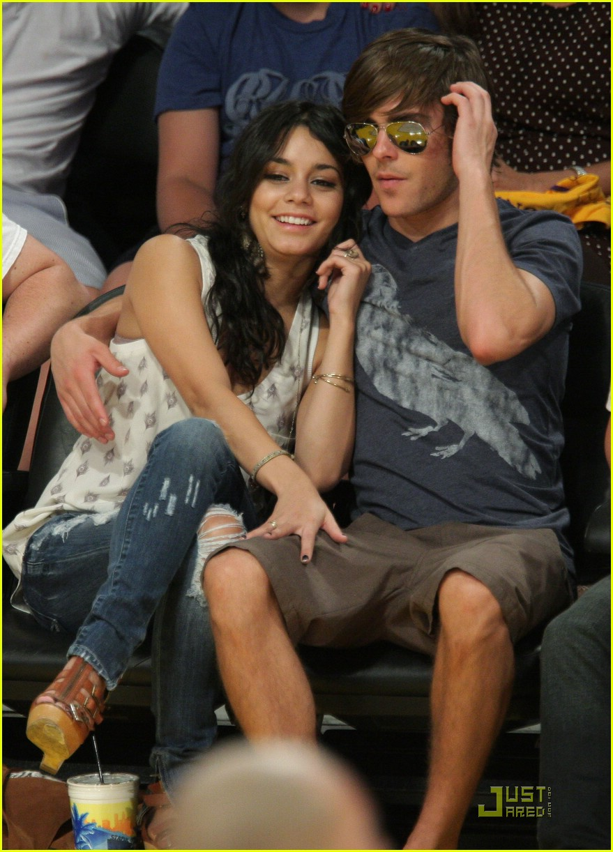 zac efron vanessa hudgens lakers 01