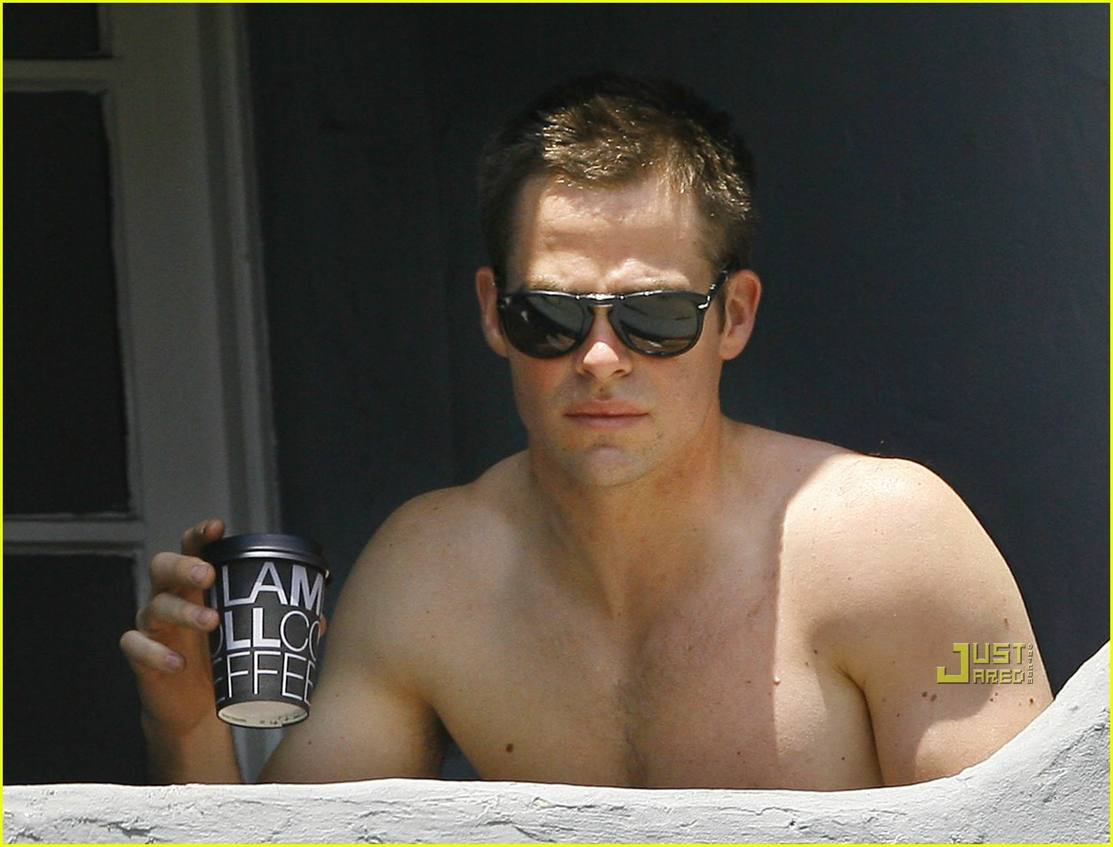chris pine shirtless picking nose 27