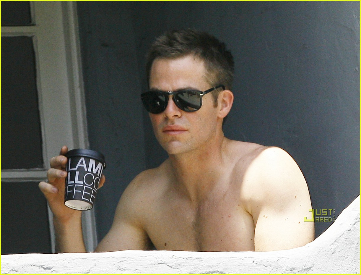 chris pine shirtless picking nose 291928981