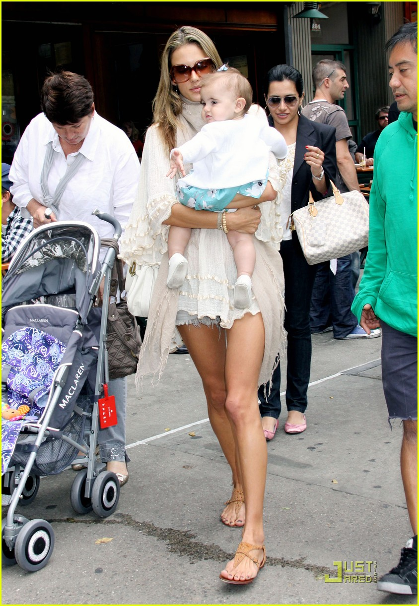 Full Sized Photo of alessandra ambrosio beaming baby 08 ...