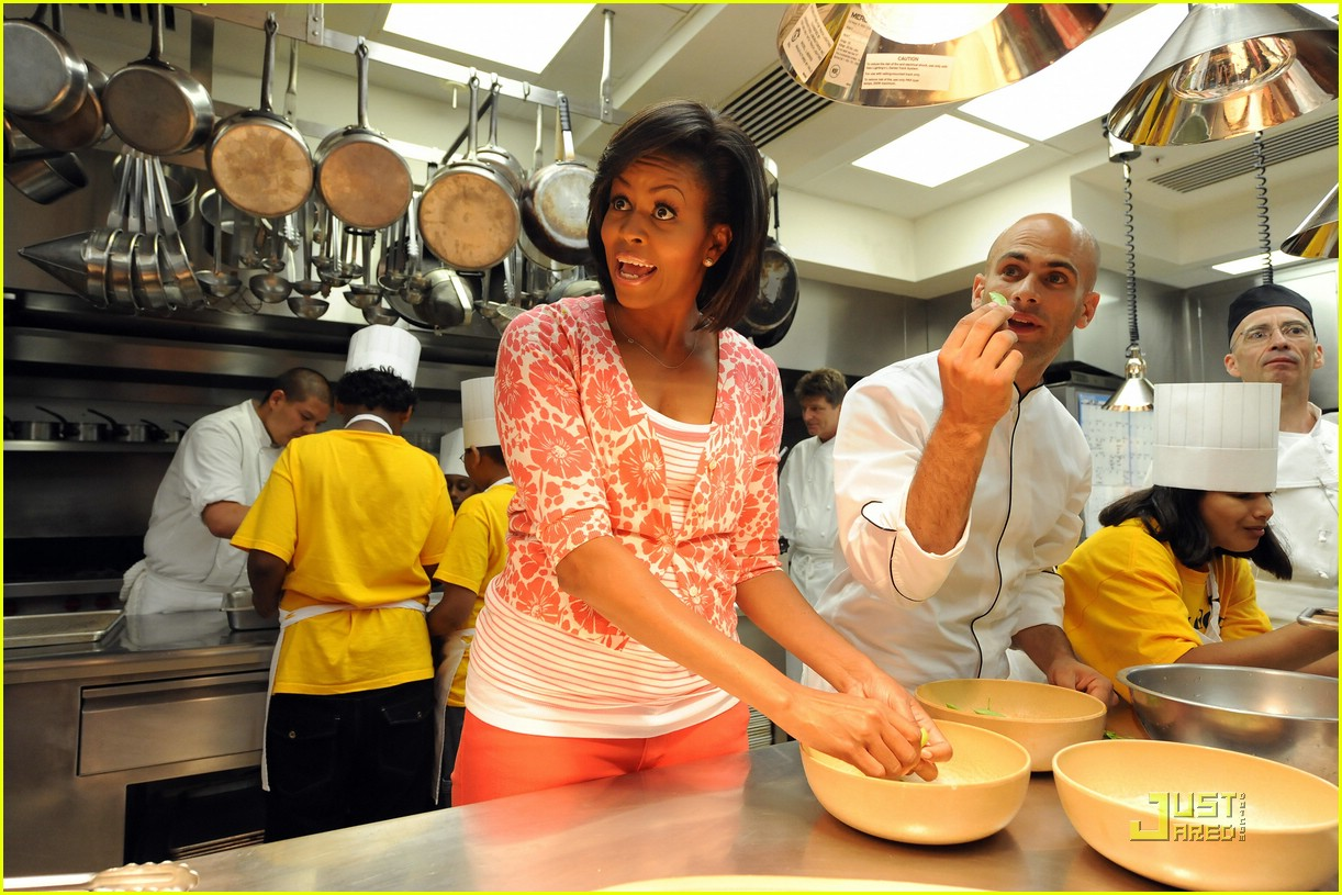 White House Kitchen Garden Michelle Obama Harvests The White House Kitchen Garden Photo