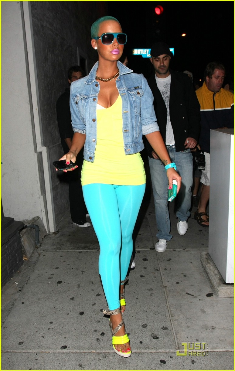 That amber rose toes think, that