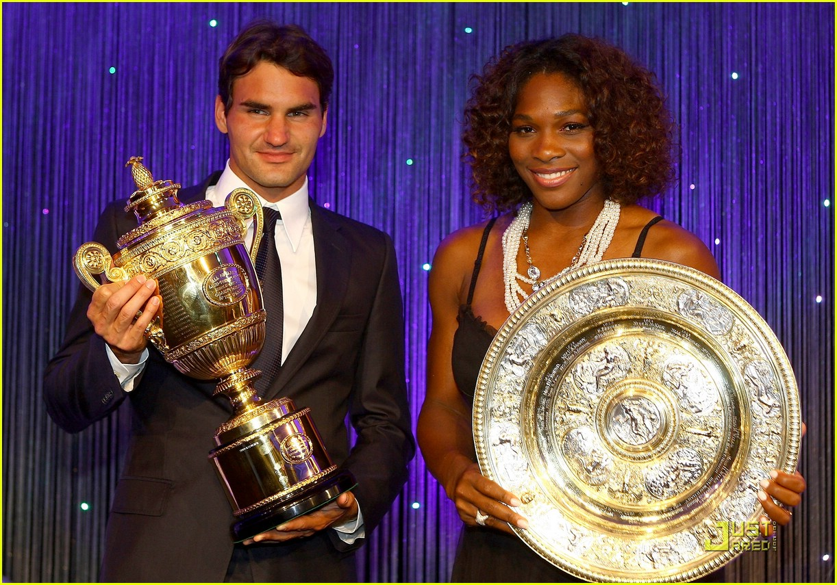 roger federer serena williams take their trophies 09