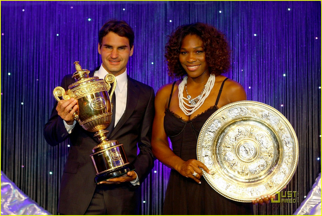roger federer serena williams take their trophies 11
